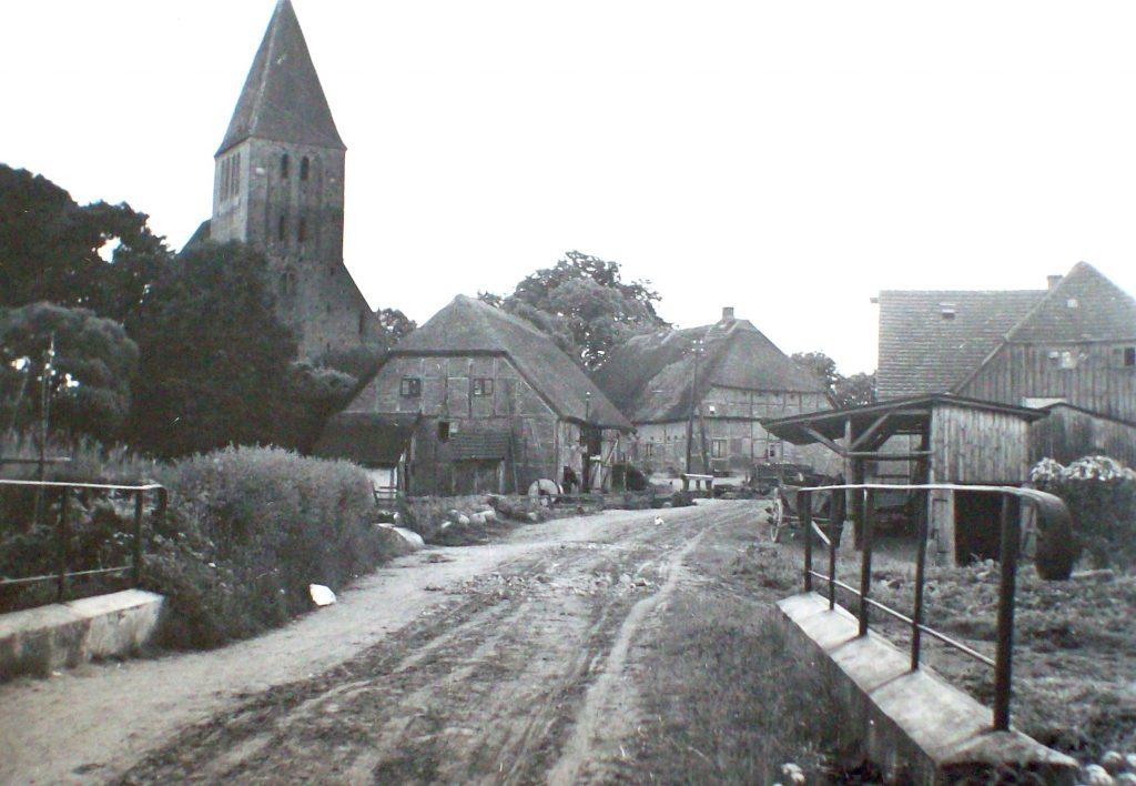 Die Wassermühle in Reinshagen aus Norden (alte Aufnahme)